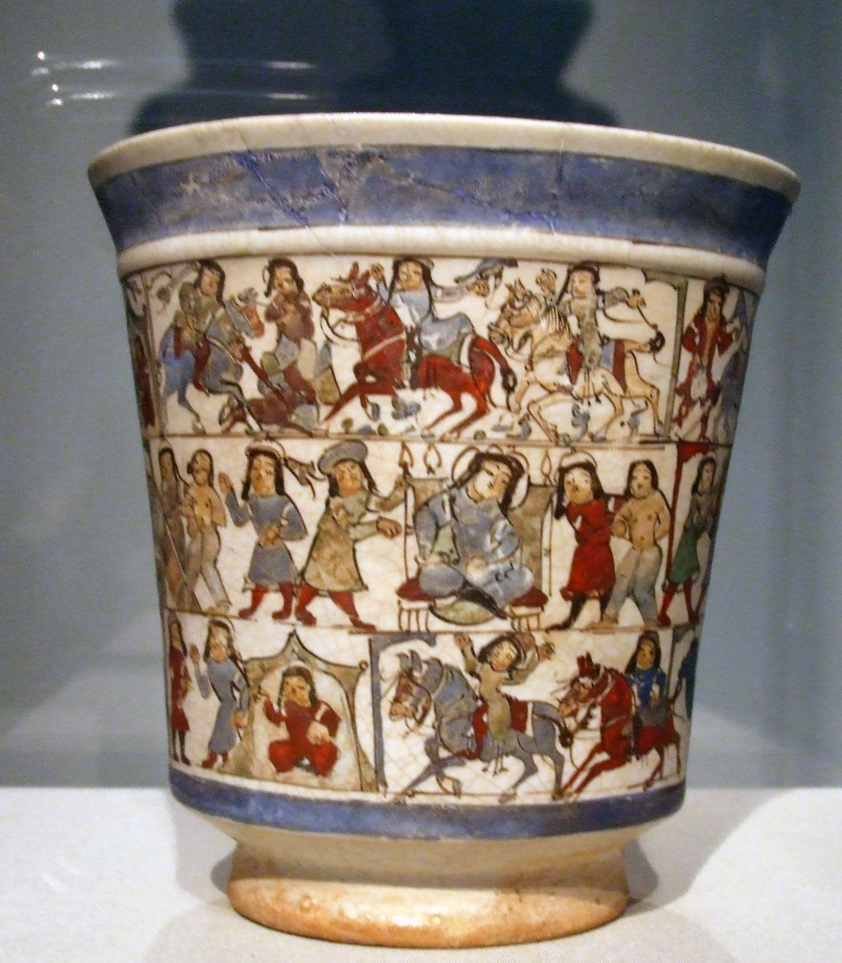 beaker, iran salijuq period late 12th century