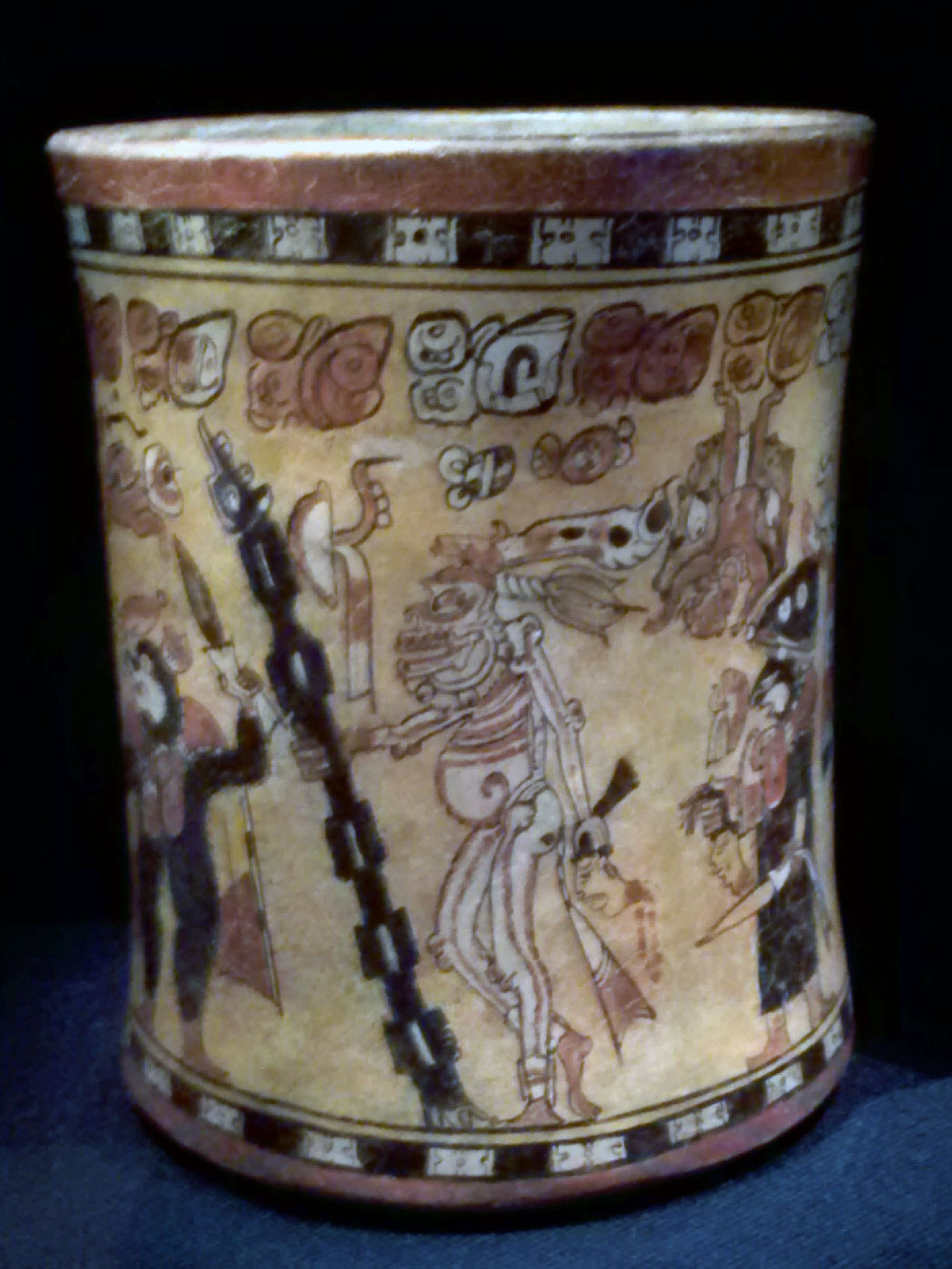 Mayan Vase with Eleven Figures from the Guatemalan Highlands AD 600-900